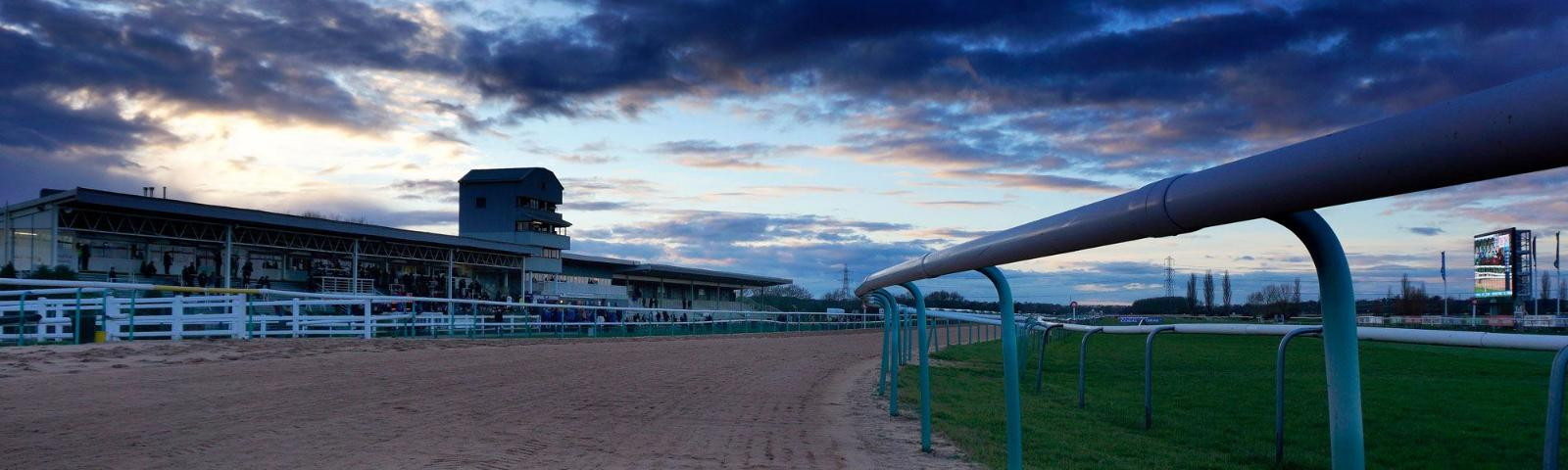 Southwell Racecourse at dusk
