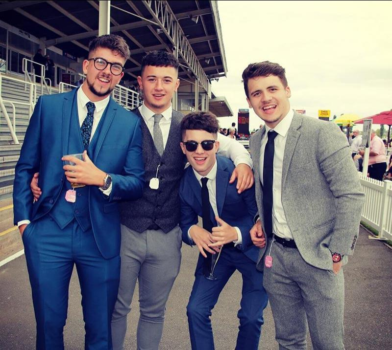 Young men dressed for the day at Southwell races