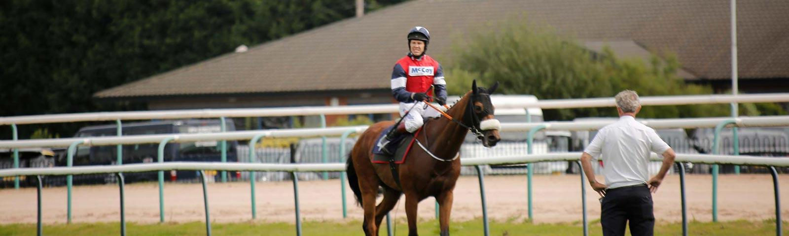Horse and Jockey at Southwell Racecourse