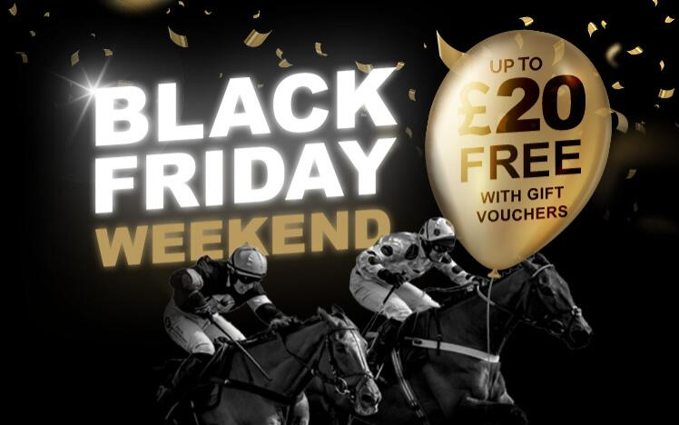 Treat someone with black friday gift voucher to enjoy live horse racing at Southwell Racecourse. A unique gift for Christmas