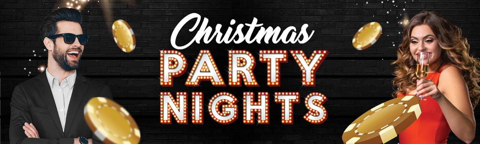 A promotional image for Christmas Party Nights